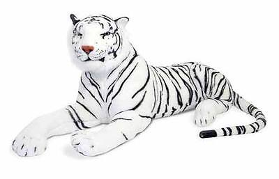Melissa and & Doug Large Giant Plush Animal Stuffed - White Tiger - New #3979