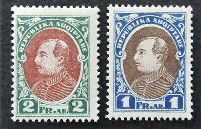 nystamps Albania Stamp # 193.194 Mint OG H In Different Color Rare   L30y002