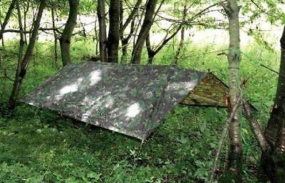 Military Basha Waterproof Shelter Army Tarp Shelter Tent Camping Fishing Bivi for sale  Bathgate