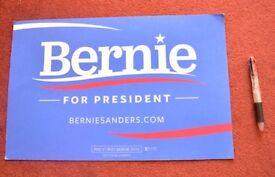 Official Bernie Sanders 2016 Campaign Placard