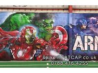 CARDIFF & UK Aerosol Street Art Graffiti Artist - Mural Canvas Vehicle Large Small UK