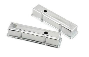Valve Covers Small Block Tall Chrome-Plated