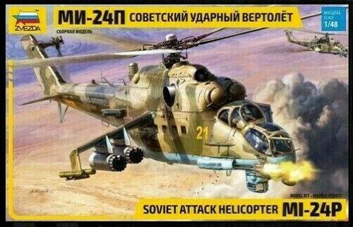 Soviet Attack Helicopter MI-24P model kit 1/48 Zvezda 4812