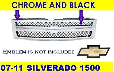 GRILLE for Chevrolet SILVERADO 1500 2007-2013 Chrome/Black | 25810707 GM1200572