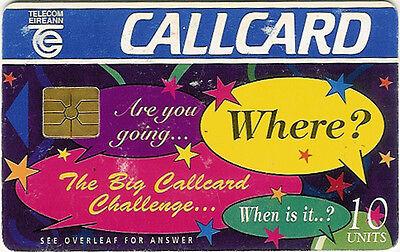 THE BIG CALLCARD CHALLENGE USED CALLCARD COLLECTOR'S FAIR 1996 DUBLIN PHONECARD