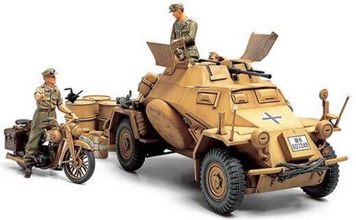 Tamiya 35286 1/35 Model Kit WWII German Armored Car Sd.Kfz 222 Afrika Korps Ver.