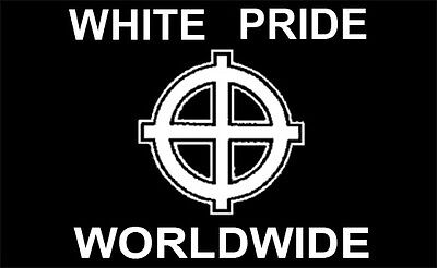 3'x5' WHITE PRIDE WORLDWIDE FLAG, European heritage power celtic aryan caucasian on Rummage