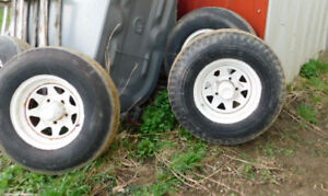 Horse Trailer Parts - tires and rims