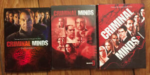 CRIMINAL MINDS DVD's - Seasons 1,3,4 all 3 for $25