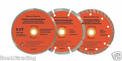 "3pk 4-1/2"" Diamond Saw Blade Cutting Discs Concrete & Stone For Angle Grinder"