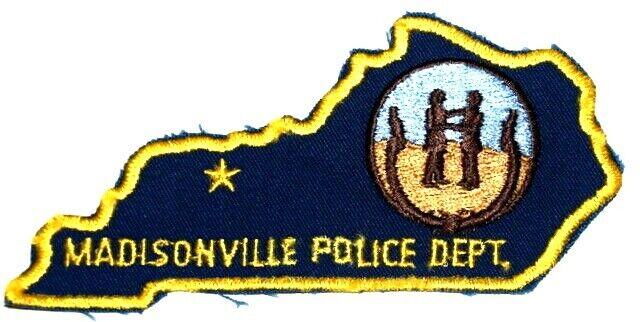 MADISONVILLE KENTUCKY KY Sheriff Police Patch – STATE SHAPE –