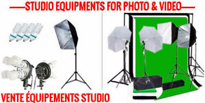 STUDIO KIT LIGHTS SOFTBOX & UMBRELLA FOR PHOTOGRAPHY & VIDEO