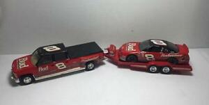 Dale Earnhardt Jr 1:24 Crew Cab, Open Trailer And Stock Car