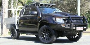 2013 Ford Ranger PX XL Double Cab Black 6 Speed Manual Utility Southport Gold Coast City Preview