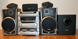 Aiwa Home Stereo Surround Sound Speaker System