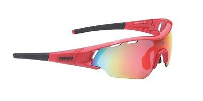 New BBB BSG-5013 Summit sunglasses with mirror lens, red
