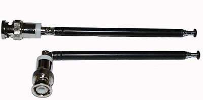 Pair Telescopic Antenna BNC Connector for Radio Scanner/VHF/UHF/Sound Systems