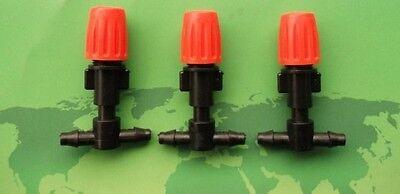 "10pcs 1/4""Hose Garden Orange Misting Micro Adjustable Flow Dripper Spray Nozzle"