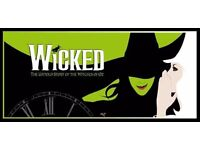 6x Wicked tickets today Feburary 23rd @ 7:30pm premium seats in the Stalls section Row Y