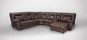 6 PIECE SECTIONAL Leather set