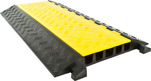 Rubber 5-Cable Warehouse Electrical Wire Snake Cover Protector Ramp DH-CP-2