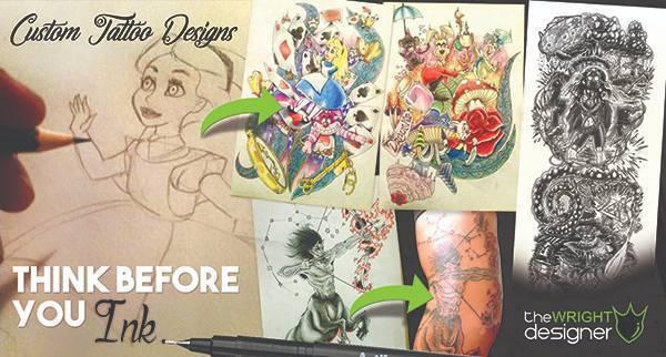 Custom Tattoo Designs - The Wright Designer | Graphic & Web Design ...