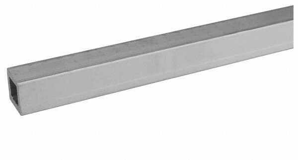 """Aluminum Square Tube, 1"""" Square x 72"""" Length, 1/16"""" Wall Thickness, Alloy 6063"""