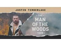 Justin Timberlake Man Of The Woods Tour 2 Seated Tickets - O2 Arena London 9th July £350 for Pair!