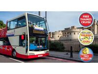 London Sightseeing 24 Hour The Original Tour Tickets ( x1 Adult & x1Child)