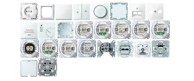 Merten Steckdosen, Schalter, UP, Rahmen 1-M, M-Smart, M-Pure polarweiß