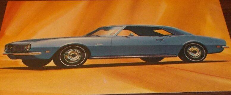 1968 Chevy Camaro Postcard-Original
