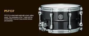 """Tama Starphonic 13""""x7"""" Metal Steel Snare Drum-caisse claire PST137"""