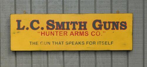 PRIMITIVE VINTAGE - L.C. SMITH SHOTGUNS - REPLICA TRADE SIGN