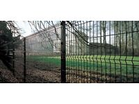 V Fold Wire Mesh Security Fencing panels and post