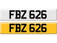 *FBZ 626* Dateless Personalised Cherished Number Plate Audi BMW M3 Ford VW Caddy Mercedes Vauxhall