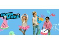 Born To Move (Les Mills) Children's Exercise Classes (2-6 year olds)