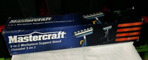Pair Of Mastercraft 3-in-1 Workpiece Support Stands New In Box