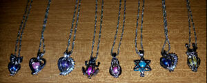 Freshwater pearl cage necklaces