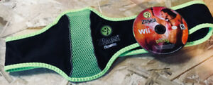 Wii Zumba Fitness game + workout belt