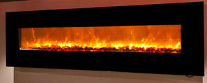 8 Foot Electric Linear Fireplace