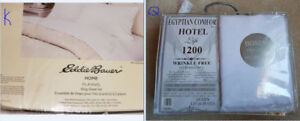 Sheet sets - all brand new, King $45 or Queen $35 or Double