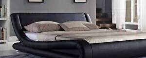 Brand New Curved Pu Leather Q  bed Italian Design In Stock 27/2/ Seven Hills Blacktown Area Preview