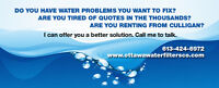 WATER PROBLEMS FIXED - $25 MONTHLY!