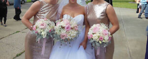 Rose gold sequins gowns
