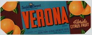 VERONA-Vintage-Avon-Park-Citrus-Crate-Label-Florida-AN-ORIGINAL-LABEL