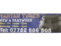 NEW AND PART WORN TYRES USED TIRES