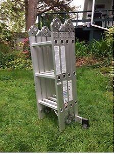 Adjustable locking 12 foot ladder