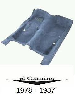 El Camino Carpet 78 79 80 81 82 83 84 85 86 87 Chevrolet El Camino Carpet