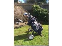 SRIXON GOLF BAG WITH PUSH TROLLEY AND GOLF CLUBS PRELOVED