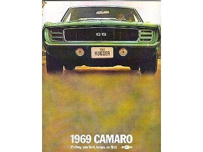 1969 69 CAMARO/Z28 SALES BROCHURE